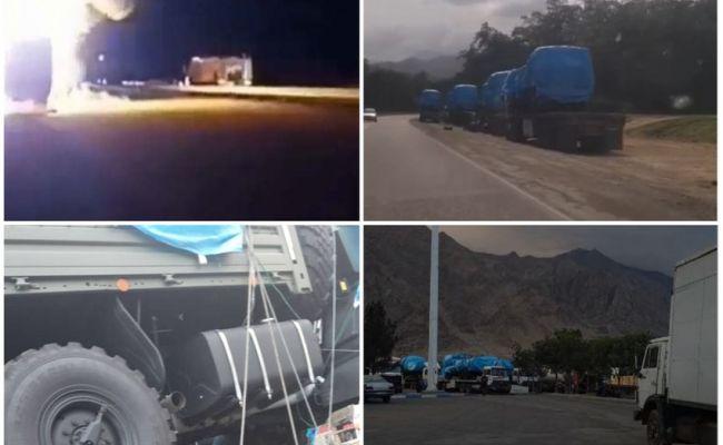 СМИ: Азербайджанцы Ирана взволнованы «переброской оружия», жгут грузовики